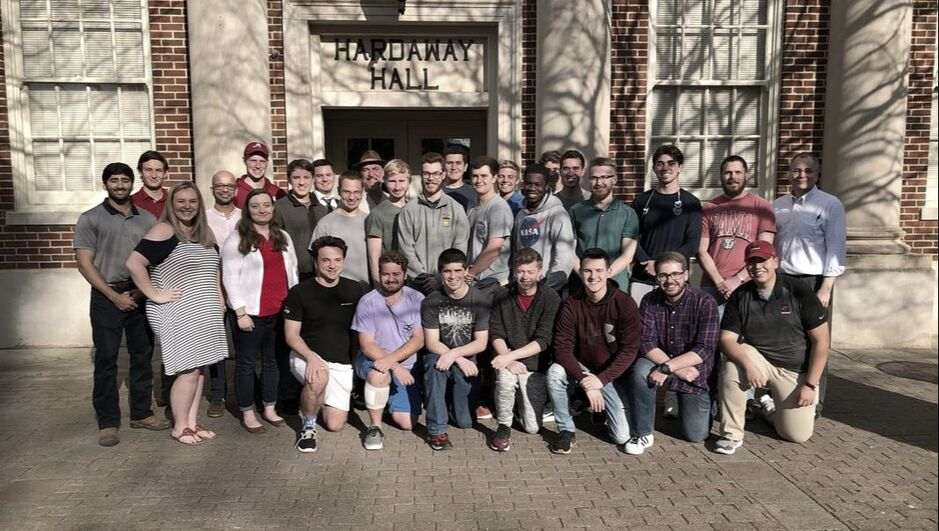 Photo of the 2018/19 BAMA CubeSat team.